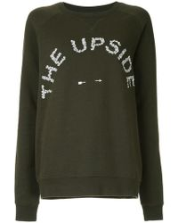 The Upside - Skull Logo Embroidered Sweater - Lyst