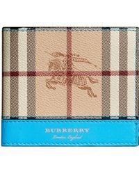 Burberry - Haymarket Check International Bifold Wallet - Lyst