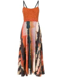 Martha Medeiros - Printed Midi Dress - Lyst