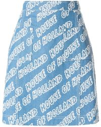 House of Holland - Printed Skirt - Lyst