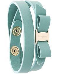 Ferragamo - Vara Bow Wrap Around Bracelet - Lyst