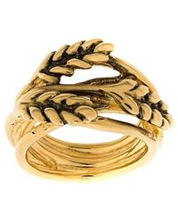 Aurelie Bidermann - Leaf Embellished Ring - Lyst