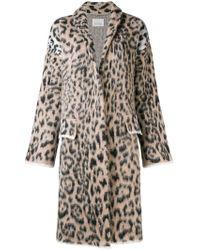 Laneus - Leopard Printed Coat - Lyst