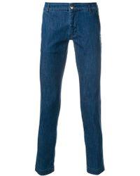Entre Amis - Cropped Slim Fit Jeans - Lyst