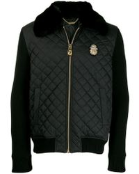 Billionaire - Quilted Logo Patch Jacket - Lyst