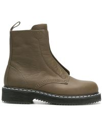 Jil Sander Navy - High Ankle Combat Boots - Lyst