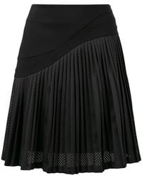 Karl Lagerfeld - Pleated Mesh Skirt - Lyst