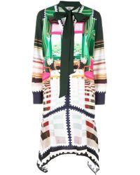 Mary Katrantzou Kleid mit Schleifenkragen