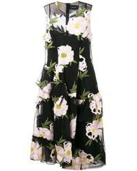 Simone Rocha - Floral Embroidered Dress - Lyst