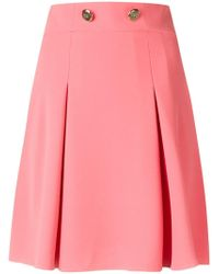 Elisabetta Franchi - Pleated Mini Skirt - Lyst