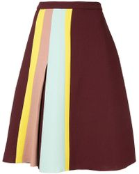 Delpozo - Stripe Detail Skirt - Lyst