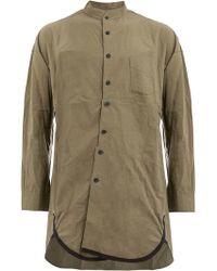 Ziggy Chen - Asymmetric Band Collar Shirt - Lyst