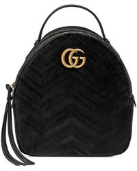 591472d38077 Lyst - Gucci Marmont Bug Chevron Backpack in White