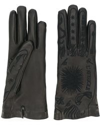Gucci | Embroidered Leather Gloves | Lyst