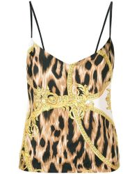 db10a67b6e Versace - Barocco Animalier Print Vest - Lyst