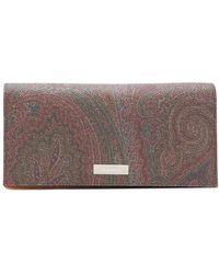 Etro - Paisley Print Wallet - Lyst