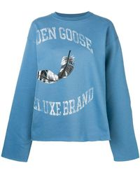 Golden Goose Deluxe Brand - Feather Logo Sweatshirt - Lyst