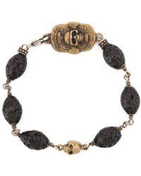 Roman Paul - Skull Motif Beaded Bracelet - Lyst