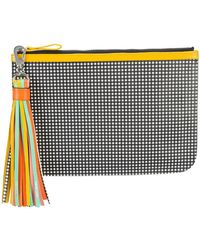 Pierre Hardy | Checkered Print Pouch Clutch Bag With Tassel Detail | Lyst