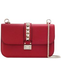 a47bba0552b7 Valentino  Glam Lock  Cross Body Bag in Pink - Lyst