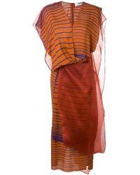 Chalayan - Layered Organza Striped Dress - Lyst