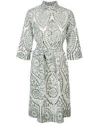 Lisa Marie Fernandez - Besticktes Hemdkleid - Lyst