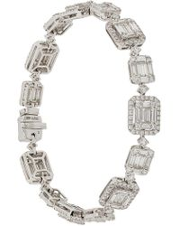 Gemco - 18kt White Gold And Diamond Bracelet - Lyst