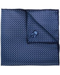 Corneliani - Embroidered Logo Square Scarf - Lyst