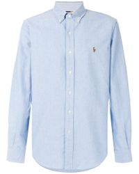 Ralph Lauren - Logo Embroidered Shirt - Lyst