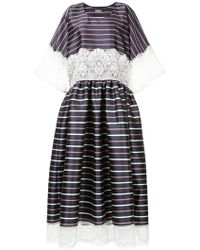 Alexis Mabille - Striped Lace Dress - Lyst