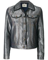 Fendi Karlito Embellished Quilted Down Ski Jacket in Black - Lyst 91d2edf27