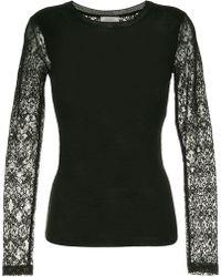 Nina Ricci - Slim-fit Lace Detail Sweatshirt - Lyst