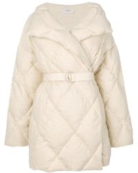 Pringle of Scotland - Belted Quilted Puffa Coat - Lyst