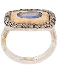 Rosa Maria 18kt Yellow Gold, Silver And Diamond Lotta Cocktail Ring