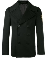 Alexander McQueen - Embroidered Patch Coat - Lyst
