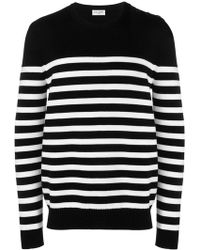 Saint Laurent - Striped Fitted Sweater - Lyst
