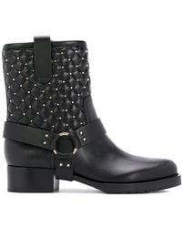 Valentino - Biker Leather Boots - Lyst