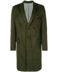 Roberto Collina - Single Breasted Midi Coat - Lyst