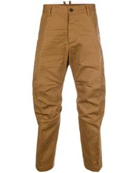 DSquared² - Crumpled Cropped Trousers - Lyst