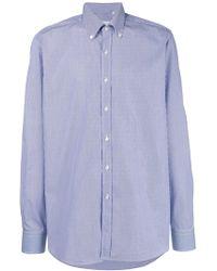 Xacus - Pinstripe Button Down Shirt - Lyst
