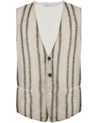 Transit - Striped Front Waistcoat - Lyst