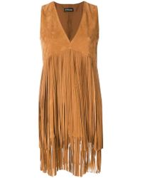 Twin Set | V-neck Fringe Dress | Lyst