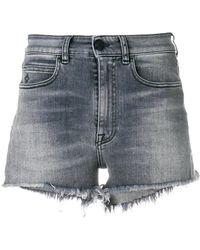 Marcelo Burlon - Fitted Denim Shorts - Lyst