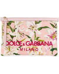 Dolce & Gabbana フローラル クラッチバッグ - マルチカラー
