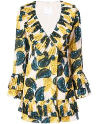 C/meo Collective - Paisley Ruffle Mini Dress - Lyst