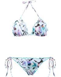 Brigitte Bardot - Zebra Print Triangle Bikini Set - Lyst