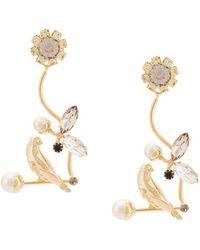 Erdem - Bird Filigree Earrings - Lyst