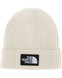 The North Face - Logo Patch Knitted Beanie - Lyst