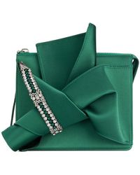 N°21 - Embellished Abstract Bow Clutch Bag - Lyst