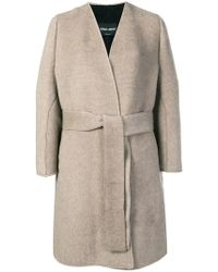 Giorgio Armani - Belted Knit Coat - Lyst